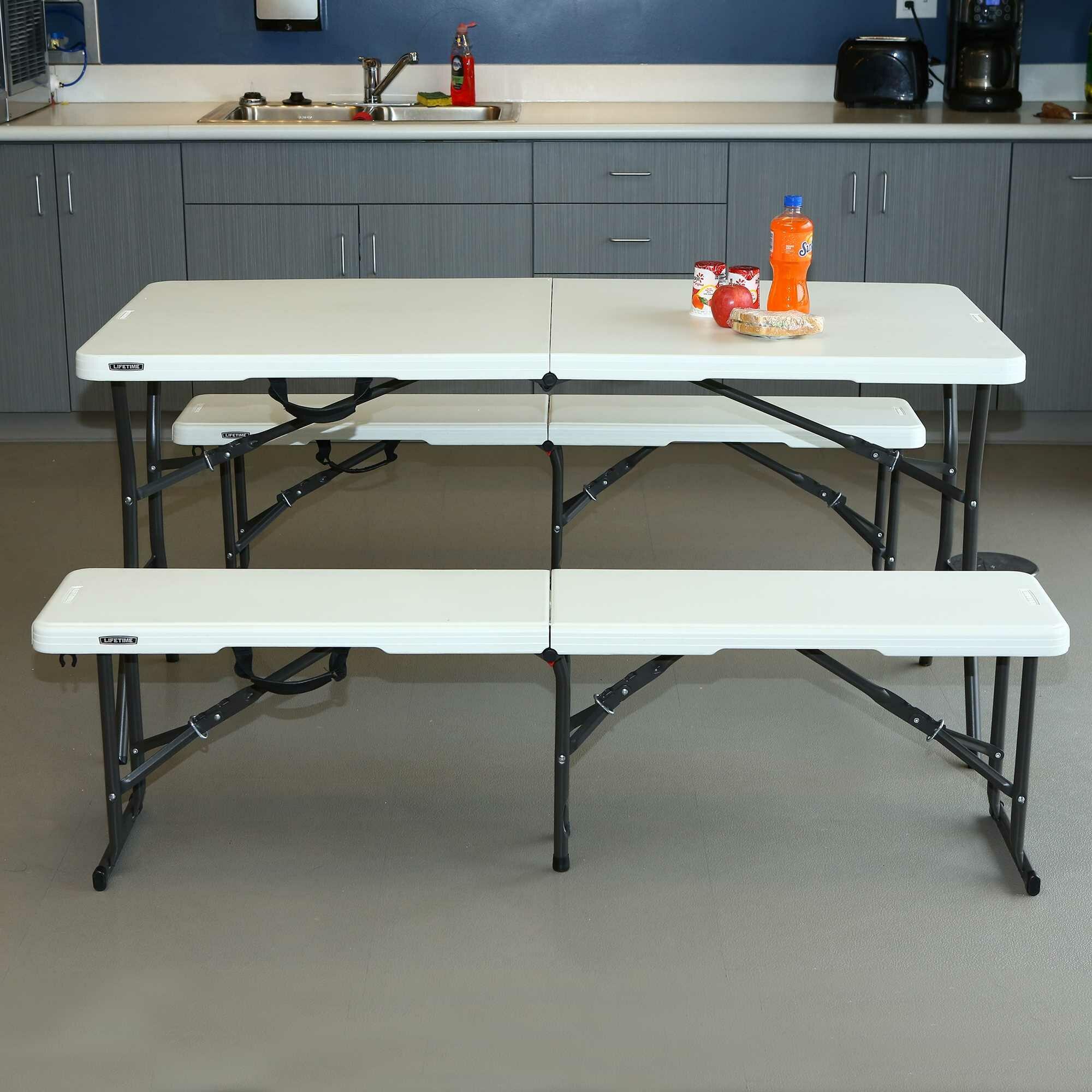 Tremendous 3 Piece 60 Rectangular Folding Table Set Pabps2019 Chair Design Images Pabps2019Com