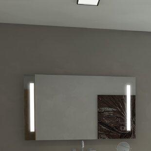 Orren Ellis Lency Modern Illuminated Wall Mounted Bathroom/Vanity Wall Mir..