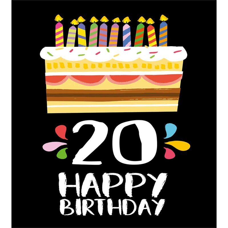 20th Birthday Decorations Duvet Cover Set