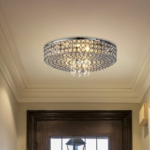 Reviews Monaco 4-Light Flush Mount By Ove Decors