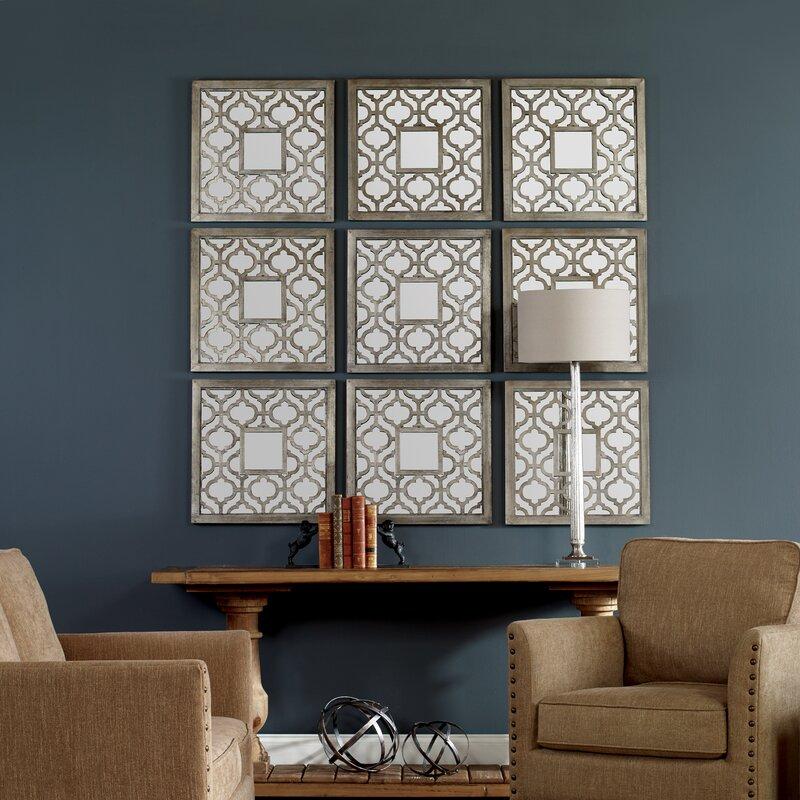 Birch Lane 2 Piece Hopkinton Silver Leaf Traditional Wall Mirror Set Reviews Wayfair