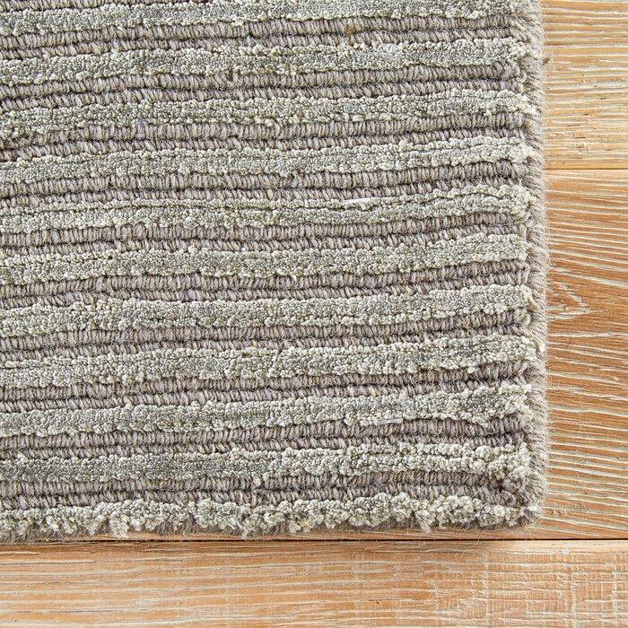 Melbourne Wool Silk Light Gray Area Rug