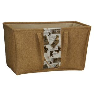 Rectangular Soft Side Burlap Container by Household Essentials