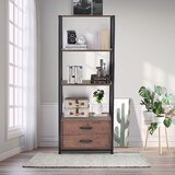 Newton St Loe 59.8'' H x 23.6'' W Metal Etagere Bookcase by 17 Stories