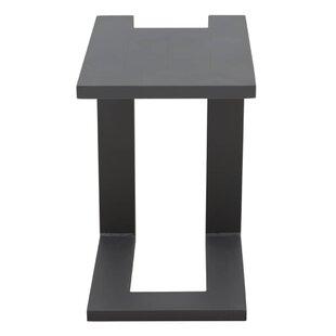 Hollhurst Aluminium Side Table By Mercury Row