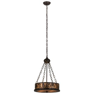 Meyda Tiffany Mountain Pine 4-Light Inverted Pendant