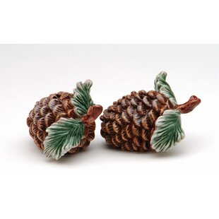 Find for Pine Cone 2-Piece Salt and Pepper Set By Cosmos Gifts