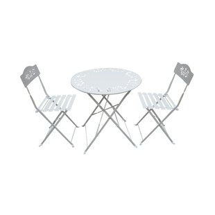 3 Piece Metal Bistro Set by Woodland Imports