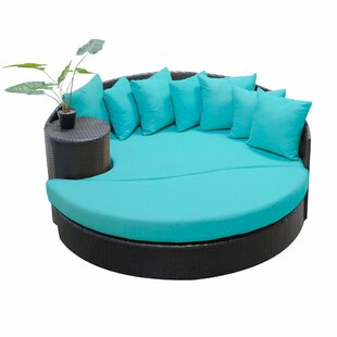 TK Classics Newport Circular Sun Daybed with Cushions