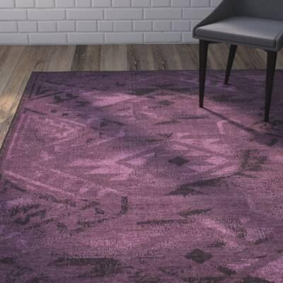 Circinus Black Purple Area Rug