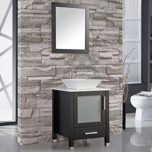 Bosarge 24 Single Bathroom Vanity Set with Mirror by Mercury Row