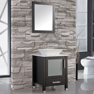 Govea 24 inch  Single Bathroom Vanity Set with Mirror
