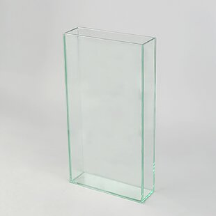 Clear-Cut Glass Table Vase