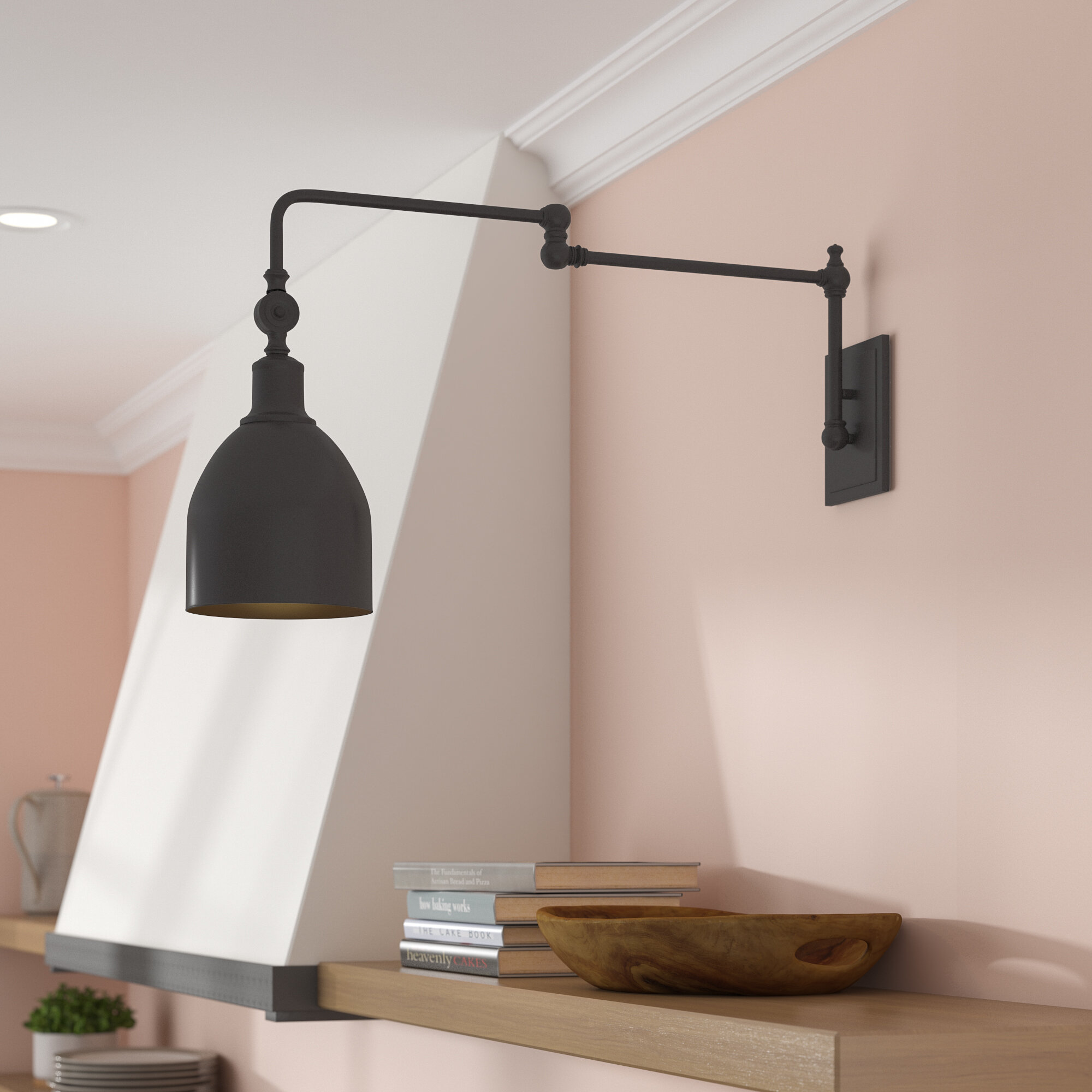 Wayfair Hard Wired Swing Arm Wall Sconces You Ll Love In 2021