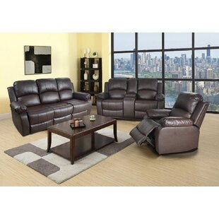 Papa 3 Piece Faux Leather Reclining Living Room Set by Ebern Designs