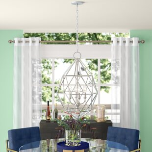 Dyana 3-Light Geometric Chandelier by Willa Arlo Interiors