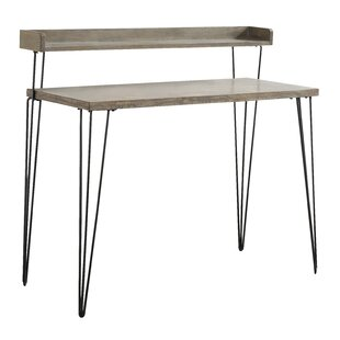 Carrillo 2 Tier Wood And Metal Desk by Union Rustic 2019 Sale
