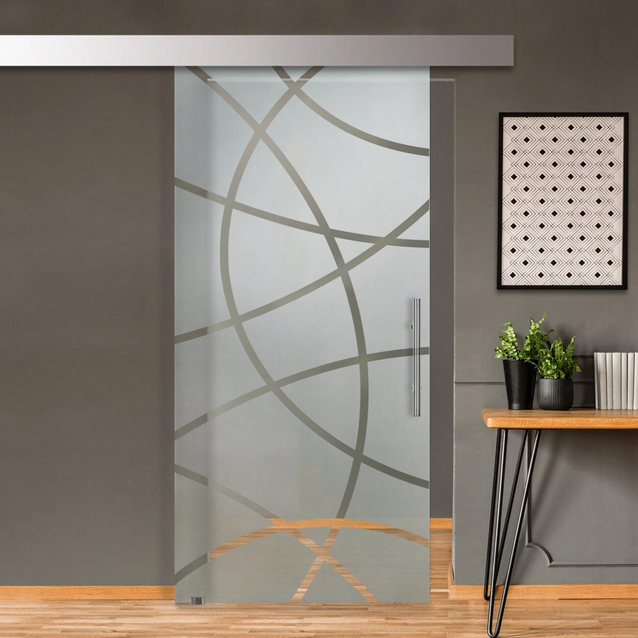 Glass Door Us Sliding Glass Barn Door With Installation Hardware Kit Wayfair