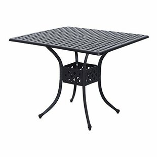Malia Metal Dining Table by Charlton Home