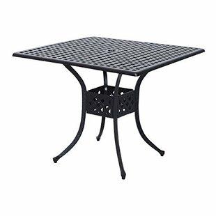 Malia Metal Dining Table by Charlton Home
