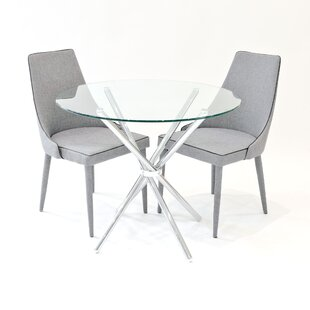 Brookhn Circular Dining Set With 2 Chairs By Metro Lane