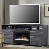 Sander TV Stand for TVs up to 75 with Electric Fireplace Included by Dimplex