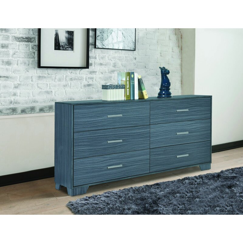Red Barrel Studio Bronstein 6 Drawer Double Dresser Wayfair