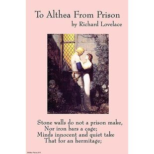 'To Althea from Prison' by Richard Lovelace Vintage Advertisement By Buyenlarge