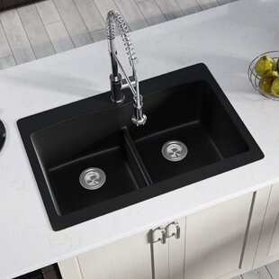 black kitchen sinks you ll love wayfair rh wayfair com black kitchen sinks undermount black kitchen sinks review