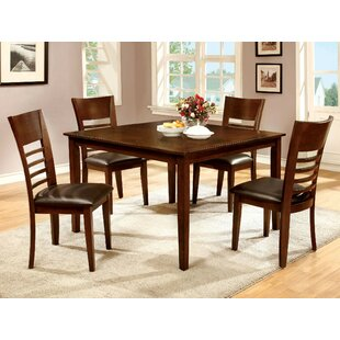 Yoder 5 Piece Solid Wood Dining Set Alcott Hill