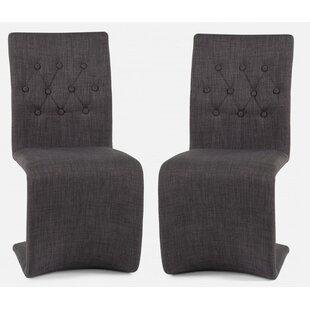 Mystras Zig Zag Upholstered Dining Chair (Set of 2) by Orren Ellis