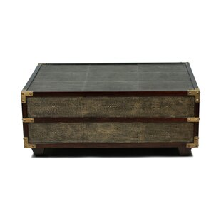 Exquisite Leather Shagreen Coffee Table