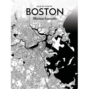 City Of Boston Wall Art Wayfair