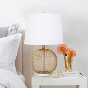 Metal Mesh and Marble 22.5 Table Lamp