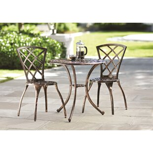 Charlton Home Hearst 3 Piece Bistro Set