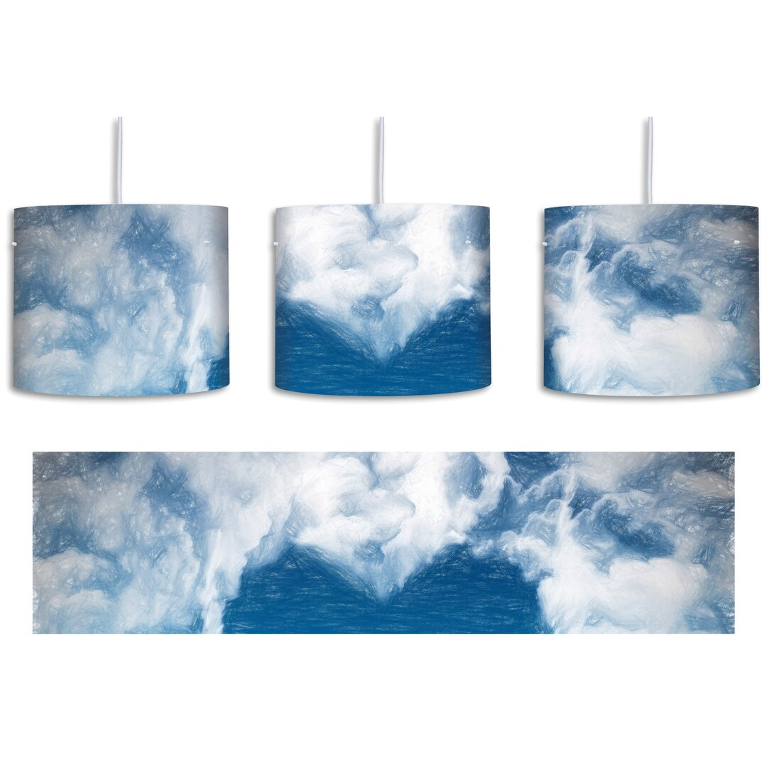 Romantic Heart in the Clouds 1-Light Drum Pendant
