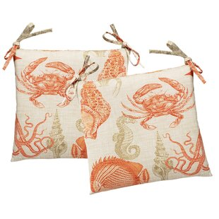 Macaire Indoor/Outdoor Dining Chair Cushion (Set of 2)