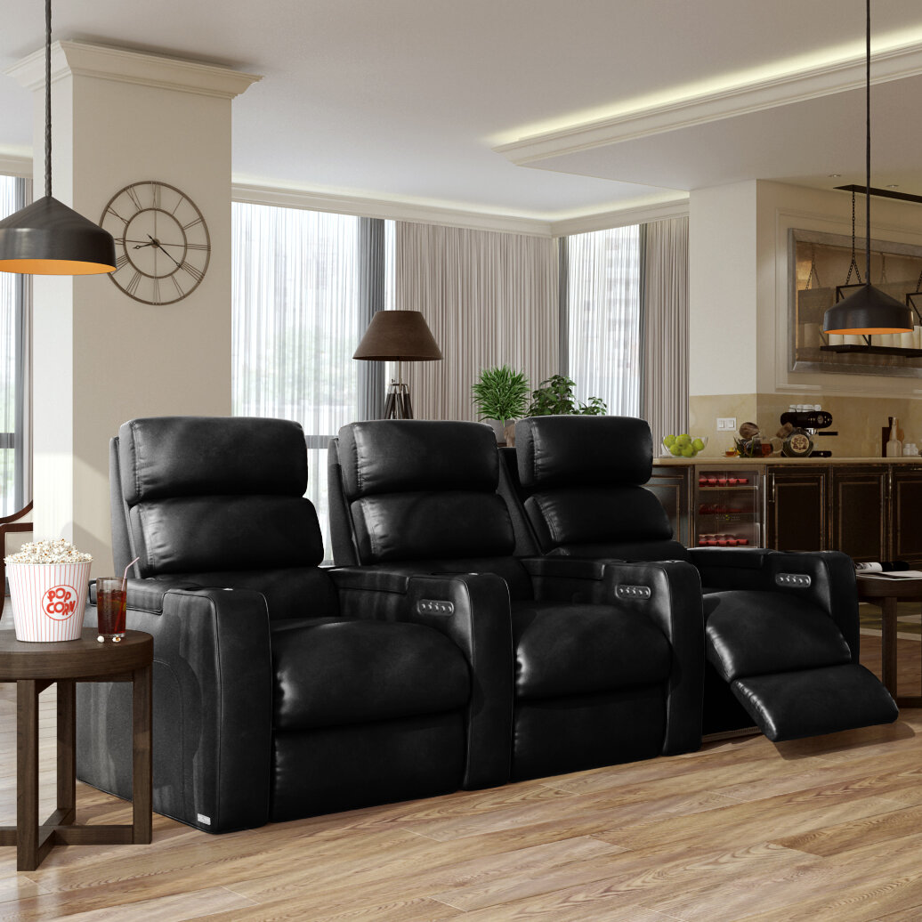 Power Leather Home Theater Sofa