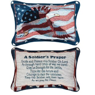 A Soldier's Prayer Word Lumbar Pillow