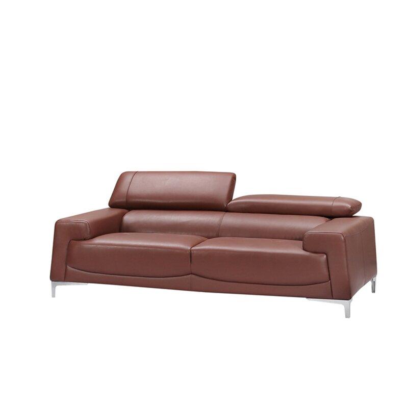 Tipton Modern Saddle Leather Sofa