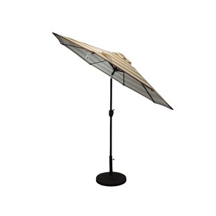 Haskell Striped Patio 9' Market Umbrella by Freeport Park
