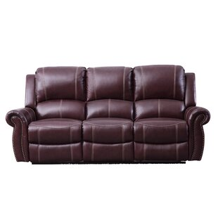 Buy luxury Lopp Leather Reclining Sofa by Red Barrel Studio Reviews (2019) & Buyer's Guide