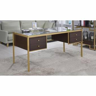 Everly Quinn Bertram Modern Writing Desk Wayfair