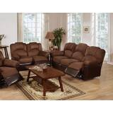 Ingaret 2 Pieces Leather Reclining Living Room Set by Red Barrel Studio