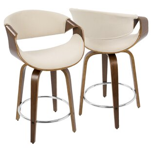 Auburn 61cm Swivel Bar Stool (Set Of 2) By George Oliver