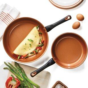 Glide Ceramic 2 Piece Non-Stick Frying Pan Set