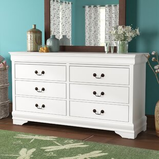 Tina 6 Drawer Wood Dresser