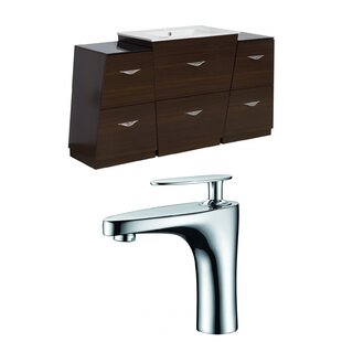 Vee 62 inch  Single Bathroom Vanity Set