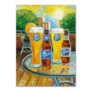 Summer by Blue Moon Painting Print on Wrapped Canvas by Miller Coors