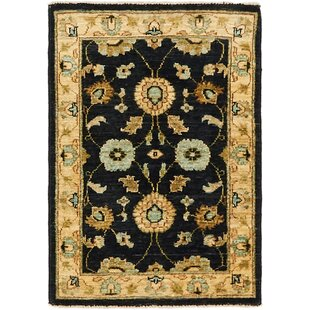 Compare & Buy One-of-a-Kind Huntingdon Hand-Knotted  2' x 3' Wool Black/Beige Area Rug By Isabelline